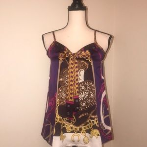 Chains&Belts Print Silky CamiTop. Express. Size XS
